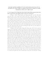 BÀI học KINH NGHIỆM về xây DỰNG ĐẢNG rút RA từ sự sụp đổ CHỦ NGHĨA xã hội ở LIÊN xô và ĐÔNG âu