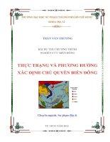 tiểu luận cao học thực trạng và phương hướng xác định chủ quyền biển đông