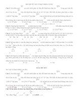Bài tập Giải về Vật lý hạt nhân