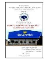 báo cáo thực tập tại công ty cổ phần thủy đặc sản SEASPIMEX việt nam