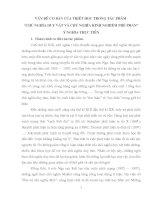 VẤN đề cơ bản TRIẾT học TRONG tác PHẨM CHỦ NGHĨA DUY vật và CHỦ NGHĨA KINH NGHIỆM PHÊ PHÁN  GIÁ TRỊ và ý NGHĨA LỊCH sử