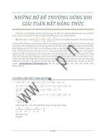 Tập hợp bổ đề chứng minh bất đẳng thức luyện thi đại học k2pi.net.vn