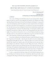 ĐÀO TẠO THEO HỆ THỐNG TÍN CHỈ TẠO ĐỘNG LỰC CHO SỰ PHÁT TRIỂN NĂNG LỰC CÁ NHÂN CỦA NGƯỜI HỌC