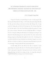 4 SỰ LÃNH đạo, CỦA TRUNG ƯƠNG đối VỚI PHONG TRÀO đấu TRANH ở CÁC TỈNH TRUNG KỲ TRONG CAO TRÀO CÁCH MẠNG 1930   1931