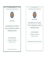 Hoàn thiện quản lý tài chính Công ty Cổ phần sách và thiết bị trường học Đà Nẵng