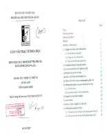 Động học quá trình hấp thụ khí SO2 bằng dung dịch Na2CO3