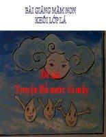 Bài giảng điện tử mầm non lớp Lá đề tài truyện Hồ nước và mây