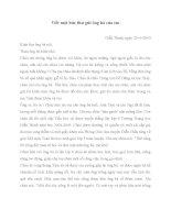 Viết thư gửi ông bà của em