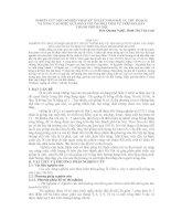 NGHIÊN CỨU MỘT SỐ BIỆN PHÁP KỸ THUẬT NHẰM RẢI VỤ THU HOẠCH  VÀ NÂNG CAO HIỆU QUẢ SẢN XUẤT ỔI OĐL1 TRÁI VỤ TRÊN ĐỊA BÀN  THÀNH PHỐ HÀ NỘI
