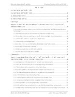 Báo cáo thực tập tốt nghiệp văn thư lưu trữ NGÂN HÀNG TMCP kỹ THƯƠNG VIỆT NAM  TECHCOMBANK