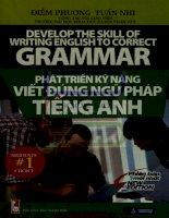 Phát triển kỹ năng viết đúng ngữ pháp tiếng anh   diễm phương, tuấn nhi