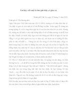 Viết thư gửi thầy cô giáo cũ