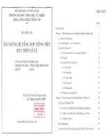 Công nghệ thông tin Xây dựng hệ thống tổng hợp tiếng Việt dựa trên luật