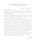 Viết thư cho người thân chúc mừng năm mới