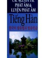 Các nguyên tắc phát âm và luyện phát âm tiếng Hàn Quốc