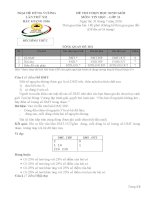 Đề thi Trại hè Hùng Vương lần thứ XII  năm 2016 Môn Tin học lớp 11