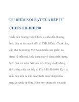 ƯU ĐIỂM NỔI BẬT CỦA BẾP TỪ CHEFS EHDIH890