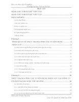 Báo cáo thực tập quản trị nhân lực: Thực trạng công tác tuyển dụng nhân lực tại công ty cổ phần bánh ngọt thu hương