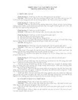 NGÂN HÀNG  đề THI TRẮC NGHIỆM VÀ BÀI TẬP TÌNH HUỐNG TRIẾT HỌC CÓ ĐÁP ÁN