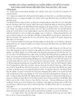 NGHIÊN CỨU CÔNG NGHỆ BÃI LỌC NGẦM TRỒNG CÂY ĐỂ XỬ LÝ NƯỚC THẢI CHĂN NUÔI TRONG ĐIỀU KIỆN TỈNH THÁI NGUYÊN, VIỆT NAM