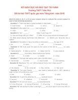 THPT TRAN PHU ĐỀ THI THỬ THPT QUỐC GIA MÔN TIẾNG ANH