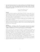 MỘT SỐ VẤN ĐỀ RÚT RA TỪ CÁC HỘI THẢO QUỐC TẾ VỀ BIẾN ĐỔI KHÍ HẬU TỔ CHỨC TẠI TP. HỒ CHÍ MINH LIÊN QUAN ĐẾN CÔNG TÁC XÂY DỰNG CẢNG VÀ BẢO VỆ BỜ BIỂN, BỜ SÔNG TẠI VIỆT NAM