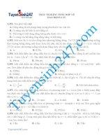 Trắc nghiệm tổng hợp về dao động cơ vật lí 11