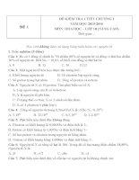 Đề kiểm tra 1 tiết hóa 10 chương 1 đề 1