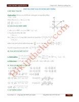 Chuyên đề: Hình học phẳng Oxy