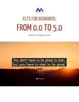Ielts cho người mới bắt đầu từ 0.0 đến 5.0