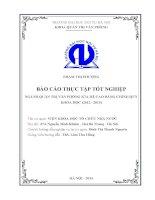 Báo cáo thực tập tốt nghiệp quản trị văn phòng tại VIỆN KHOA học tổ CHỨC NHÀ nước