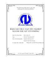 Báo cáo thực tập tốt nghiệp ngành thư ký tại Phòng nội vụ UBND thị xã hồng lĩnh