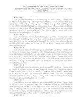 câu hỏi thi viết công chức ngành lao động thương binh và xã hội 2013