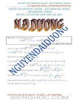 Tư duy giải phương trình, bất phương trình