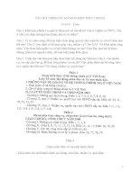 CÂU hỏi CHÍNH ôn tập môn KIẾN THỨC CHUNG