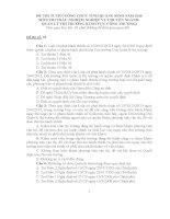 20 đề THI TUYỂN CÔNG CHỨC môn THI TRẮC NGHIỆM NGÀNH QUẢN lý THỊ TRƯỜNG (LĨNH vực CÔNG THƯƠNG) năm 2016