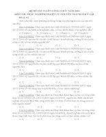 20 đề THI TUYỂN CÔNG CHỨC môn THI TRẮC NGHIỆM NGÀNH THỦY lợi năm 2016