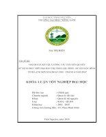 Đánh giá kết quả công tác công tác chuyển quyền sử dụng đất trên địa bàn thị trấn lộc bình   huyện lộc bình   tỉnh lạng sơn, giai đoạn 2012   6 2014