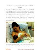 Gây tê ngoài màng cứng và những điều mẹ bầu cần biết khi sắp sinh