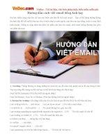 Hướng dẫn cách viết email tiếng Anh hay
