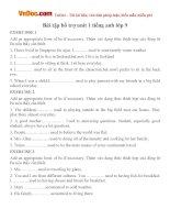 Bài tập bổ trợ Unit 1 tiếng Anh lớp 9