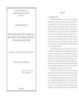 MỘT SỐ GIẢI PHÁP NÂNG CAO HIỆU QUẢ HOẠT ĐỘNG CỦA HIỆP HỘI NGÀNH HÀNG XUẤT KHẨU TẠI VIỆT NAM