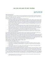 200 câu hỏi về môi trường