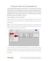 Hướng dẫn mở file Excel, Word nghi dính virus