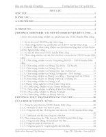 Báo cáo thực tập tốt nghiệp văn thư lưu trữ tại UBND huyện hữu lũng