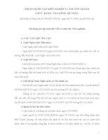 NỘI DUNG ôn tập môn NGHIỆP vụ CHUYÊN NGÀNH CHỨC DANH tài CHÍNH  kế TOÁN