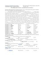 Tiếng Anh Tổng hợp các đề thi thử đại học và bài tập có đáp án