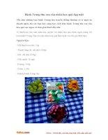 Cách làm bánh Trung thu rau câu nhân hoa quả