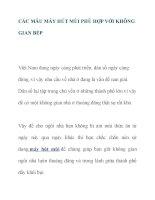 CÁC MẪU MÁY HÚT MÙI PHÙ HỢP VỚI KHÔNG GIAN BẾP