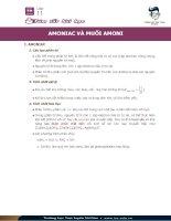 Tóm tắt bài amoniac và muối amoni